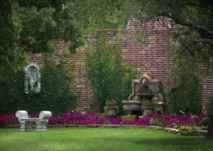 romantic outdoor garden wedding venue texas