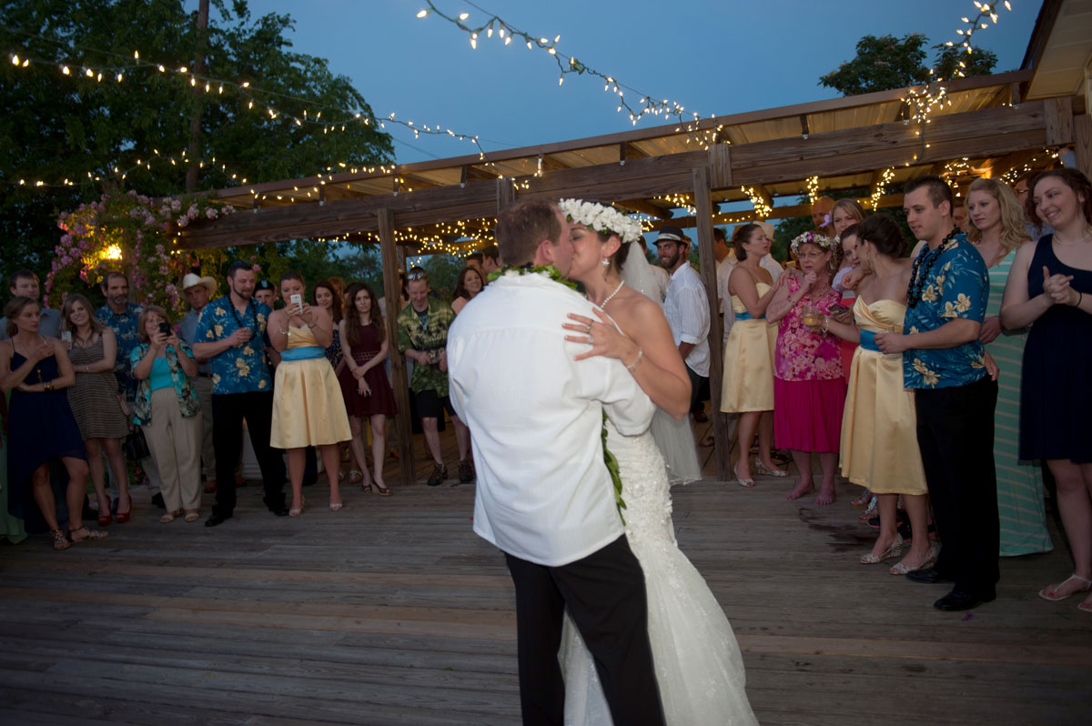 Outdoor Wedding Reception Night time Romantic Farmhouse Venue