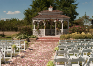 Blossoming Wedding Garden Ceremony