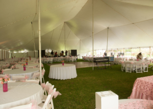 Tent Garden Reception Wedding Venue