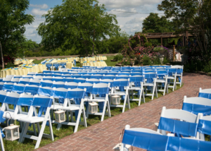 Colorful Wedding Ceremony Garden Ideas