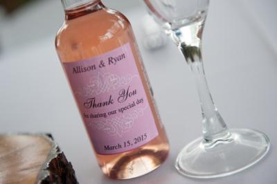 wedding guest gift idea wine